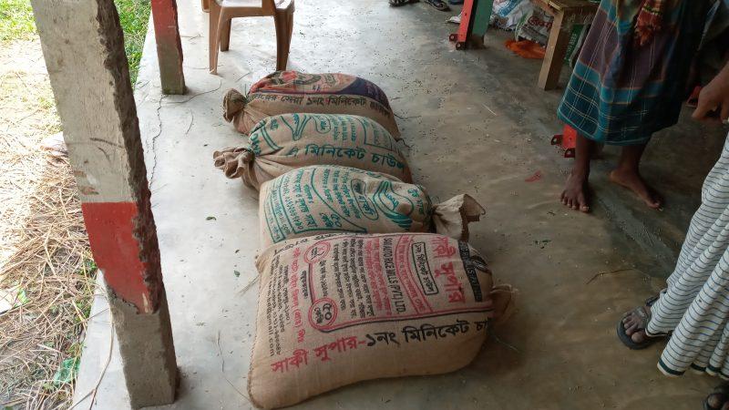 নান্দাইলে ২০০ কেজি সরকারি চাল জব্দ